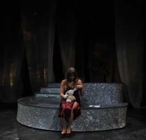 """Shanel Sparr played """"Anna"""", the main protagonist, in Theatre UCF's production of 'Baltimore Waltz' by prominent playwright Paula Vogel"""