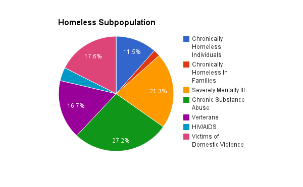 Current H.U.D. statistics on homelessness. Graphics by Ronnie Coats