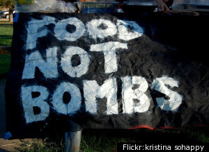 Food Not Bombs was  started in 1980 by a group of 7 anti-nuclear activist