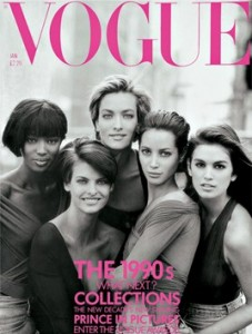 Super Models Circa 1990, Photo Courtesy of Vogue